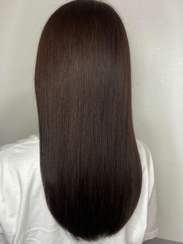 美髪ロングスタイルx dark brown