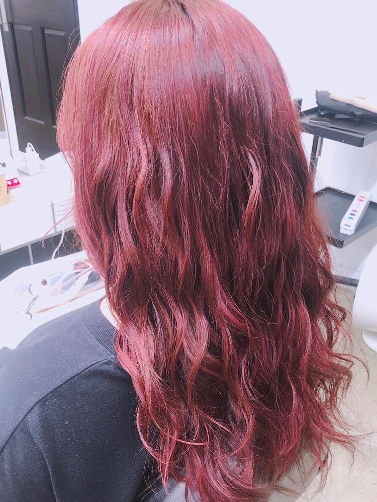 ウェーブロングx cherry red