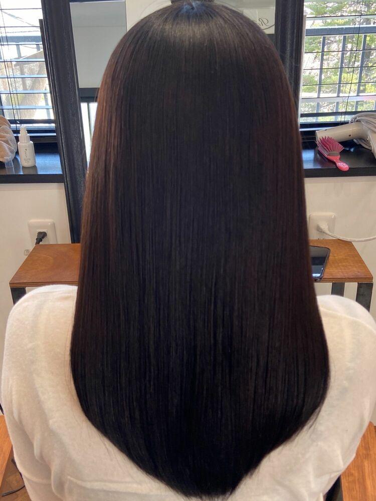美髪ロングx dark blue