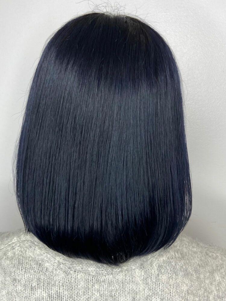 まとまりボブx aqua blue