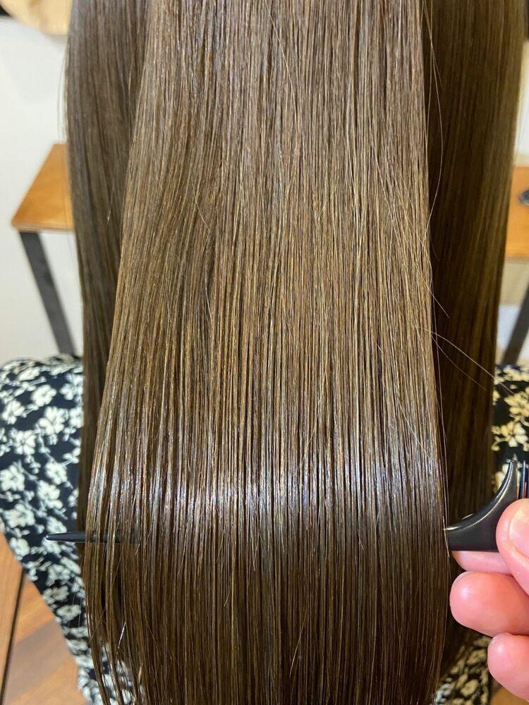 スーパロング艶髪x Aqua beige