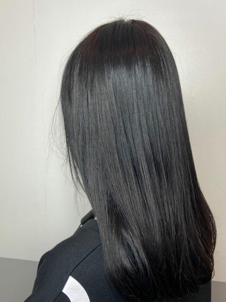 ゆるふわ艶髪ロングx silver ash