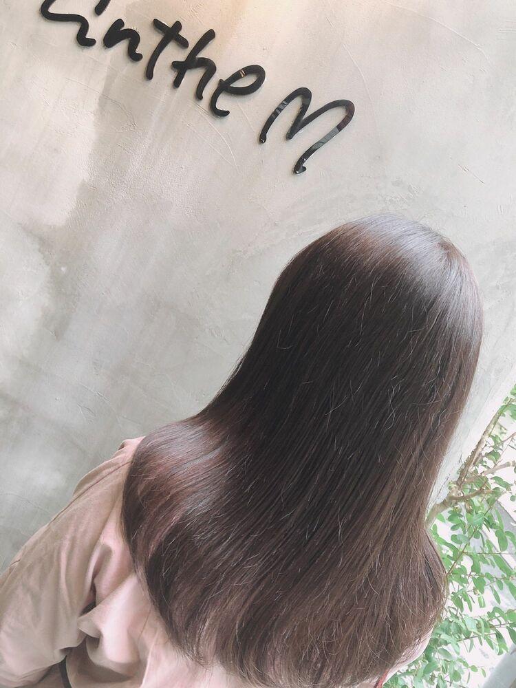 ミディアムx pink brown
