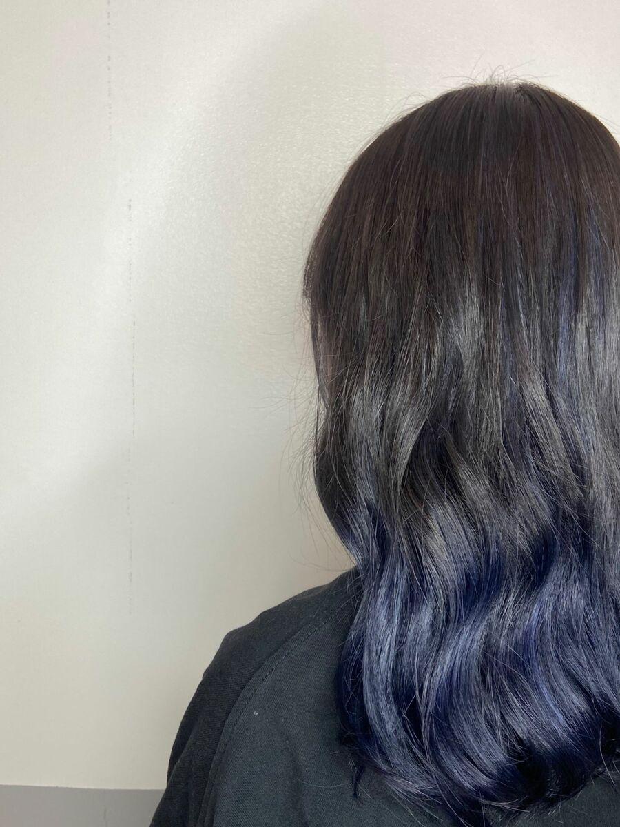 ゆるふわグラデーションカラーx midnight blue
