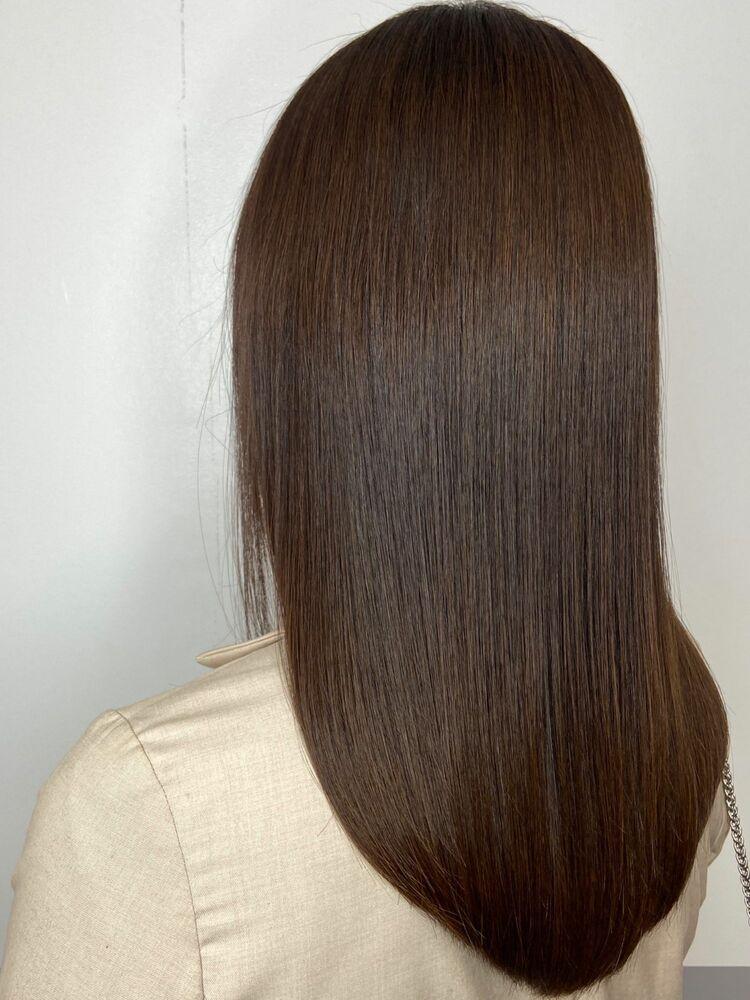 艶髪セミロングx mocha brown