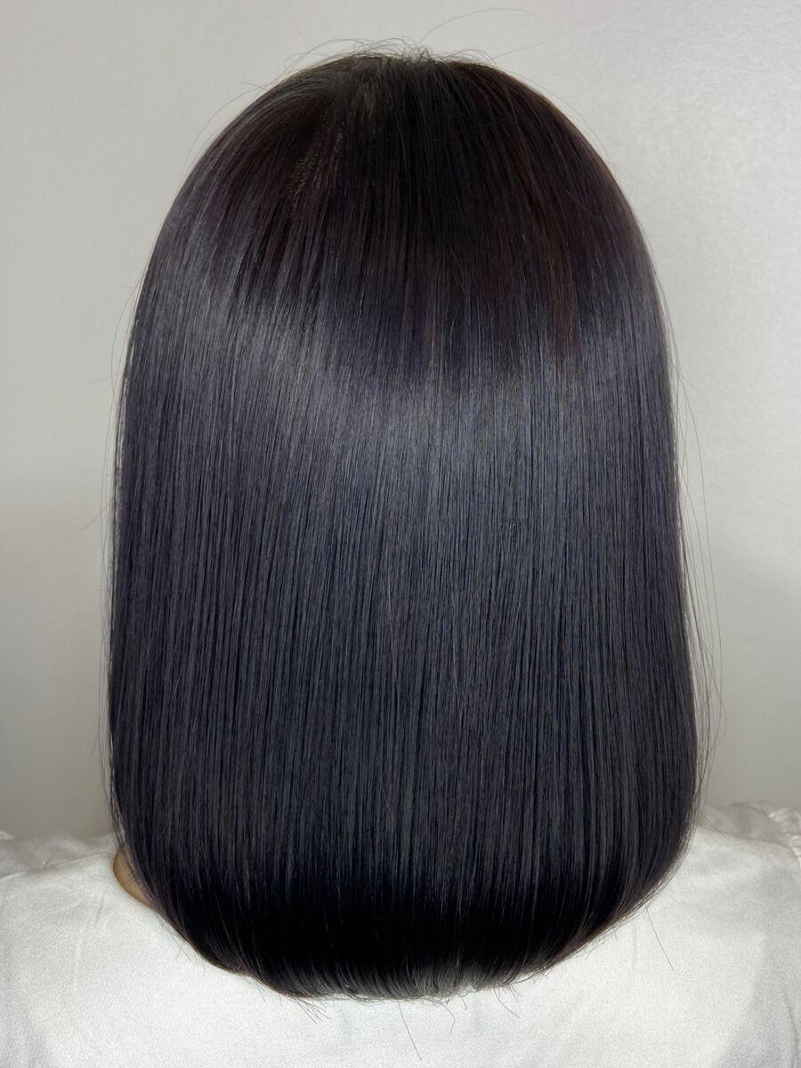 まとまる艶髪ボブx purple ash