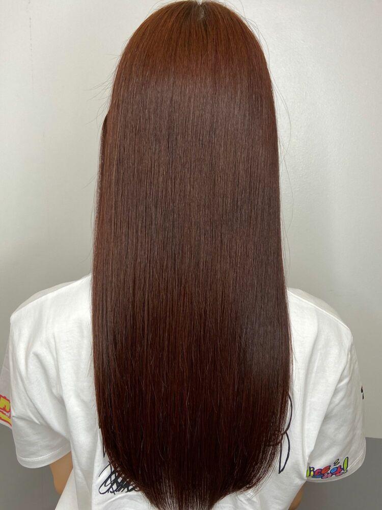 美髪艶髪ロングx pink brown