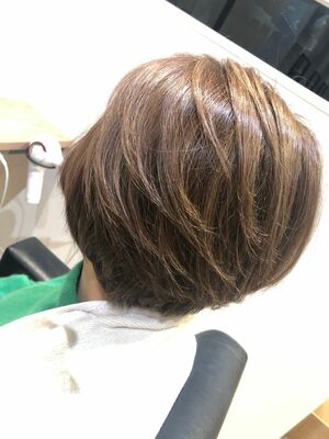 髪質改善カラーショートスタイル✨