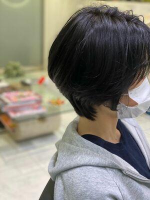 大人女性の丸みショートヘア!!