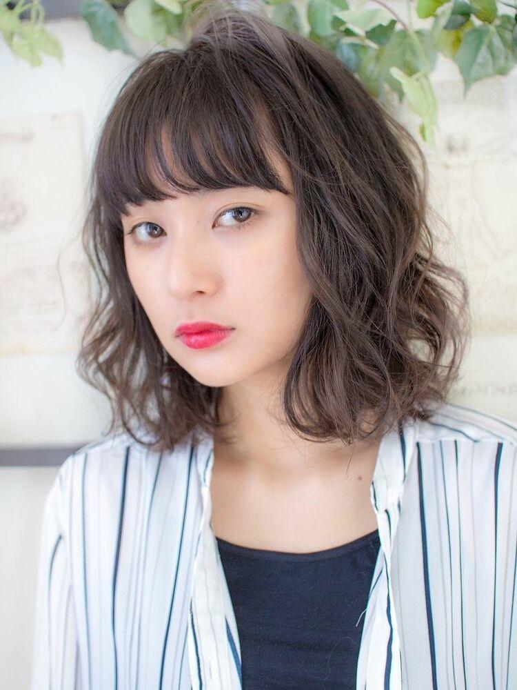 lond avenir 店長川上功介☆大人可愛い黒髪カールボブ☆