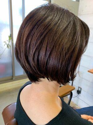 髪質再生水素トリートメント+抗酸化カラー+カットでツヤ感プラスの大人レイヤーボブ