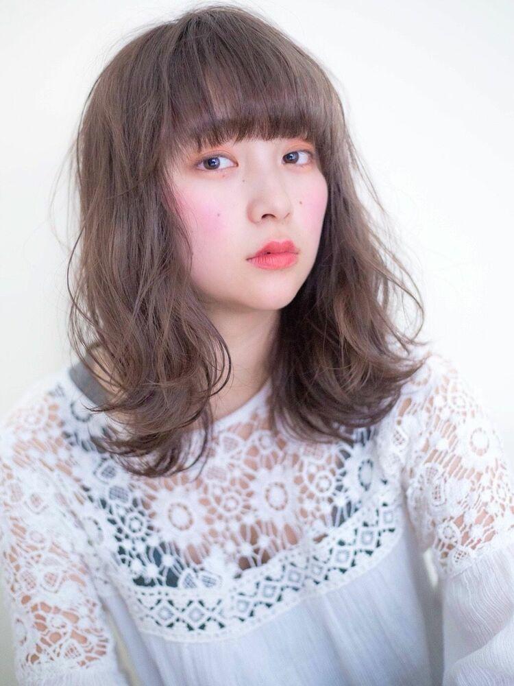 錦糸町Lond武井俊樹可愛すぎるミディアム♡『ふわふわウェーブベージュ』