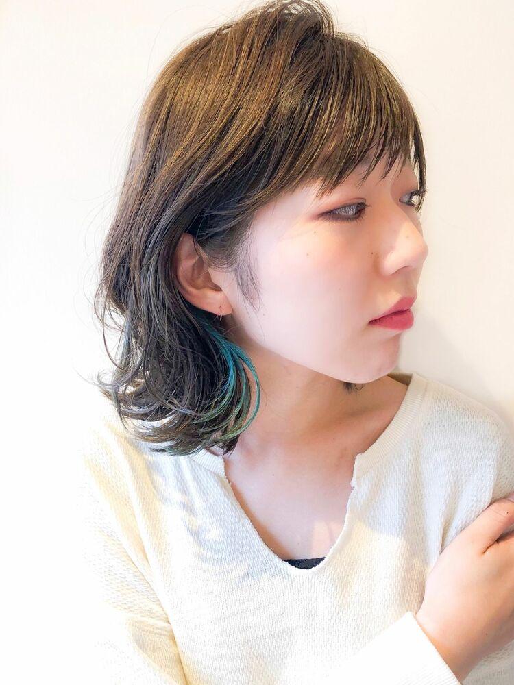 錦糸町Lond武井俊樹イヤリングカラーオシャレ♡『イヤリングアクアブルー』