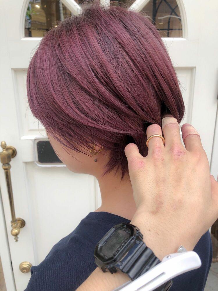 錦糸町Lond武井俊樹ピンクが可愛い♡『ピンク系ウルフショート』