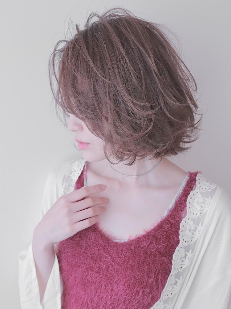 錦糸町Lond 武井俊樹透明感ベージュカラー☆フェザーカールボブ☆