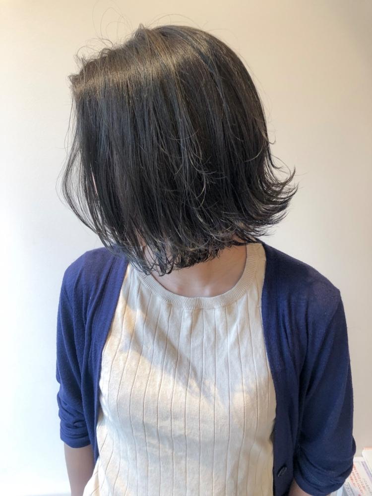錦糸町Lond武井俊樹暗めも可愛い♡『ネイビーアッシュボブ』