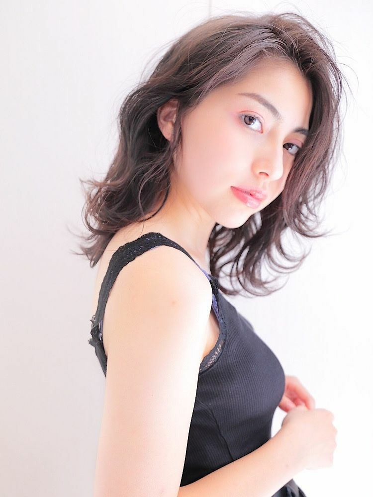 錦糸町Lond武井外ハネが可愛い♡『透明感グレージュハネミディ』