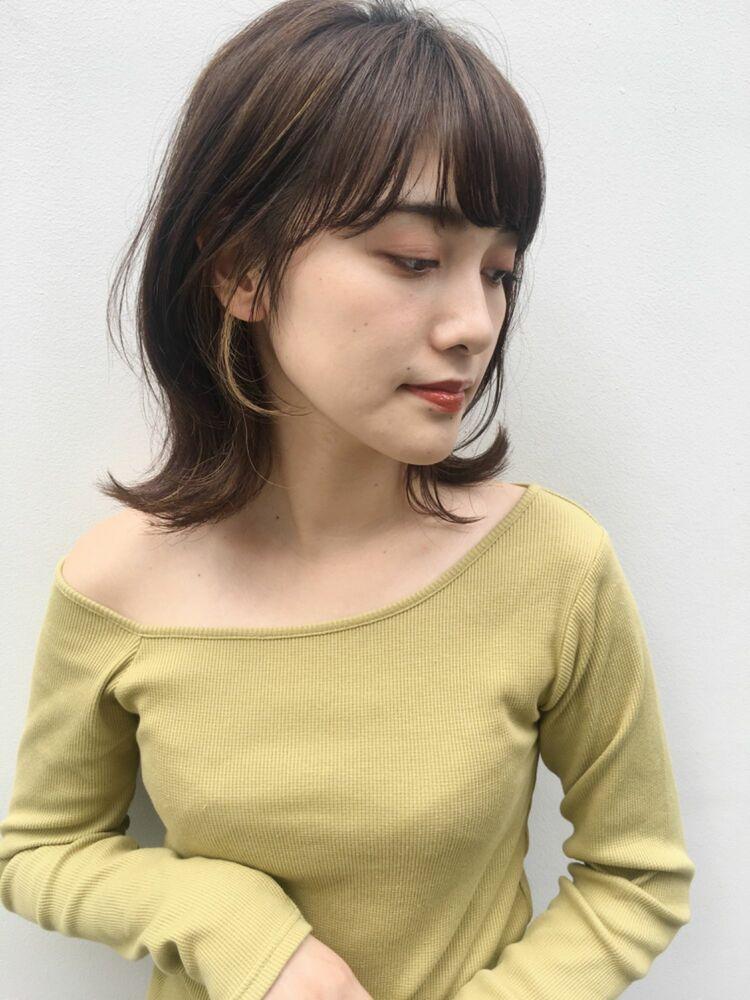 BAYROOM横浜 外ハネ&インナーが可愛い♡ミディアムスタイル