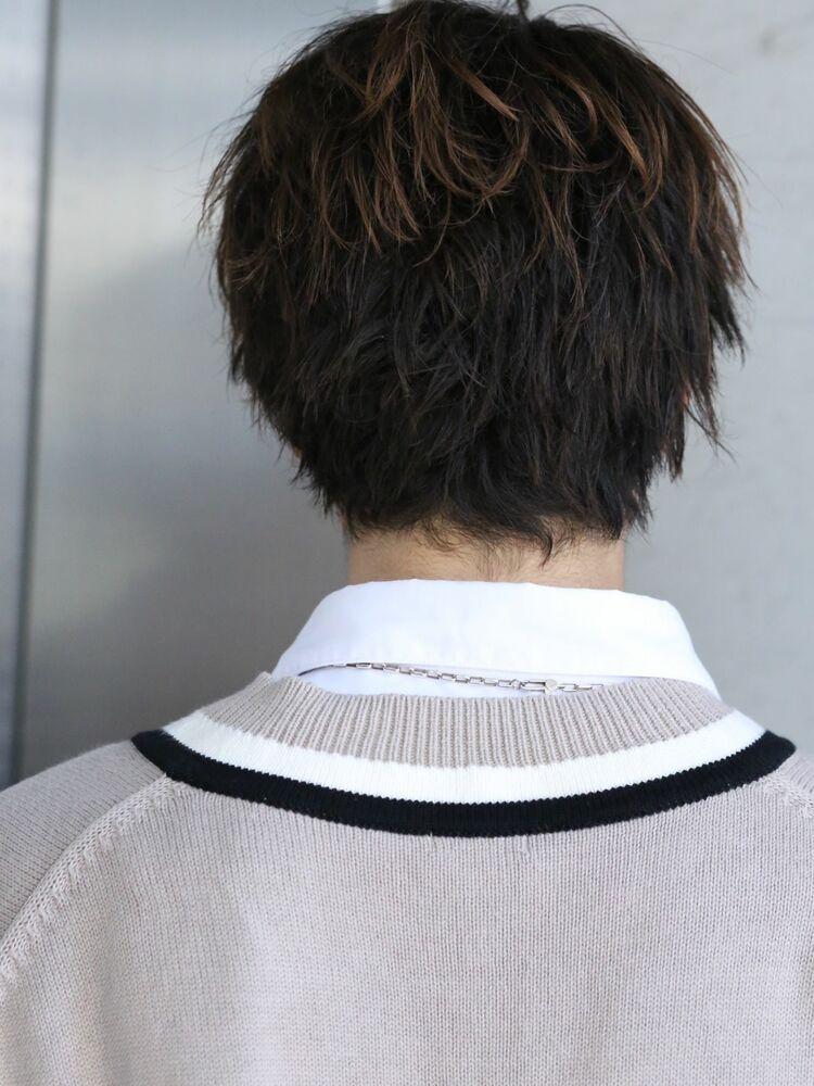 西島隆弘さん風秋髪ゆるめパーマ
