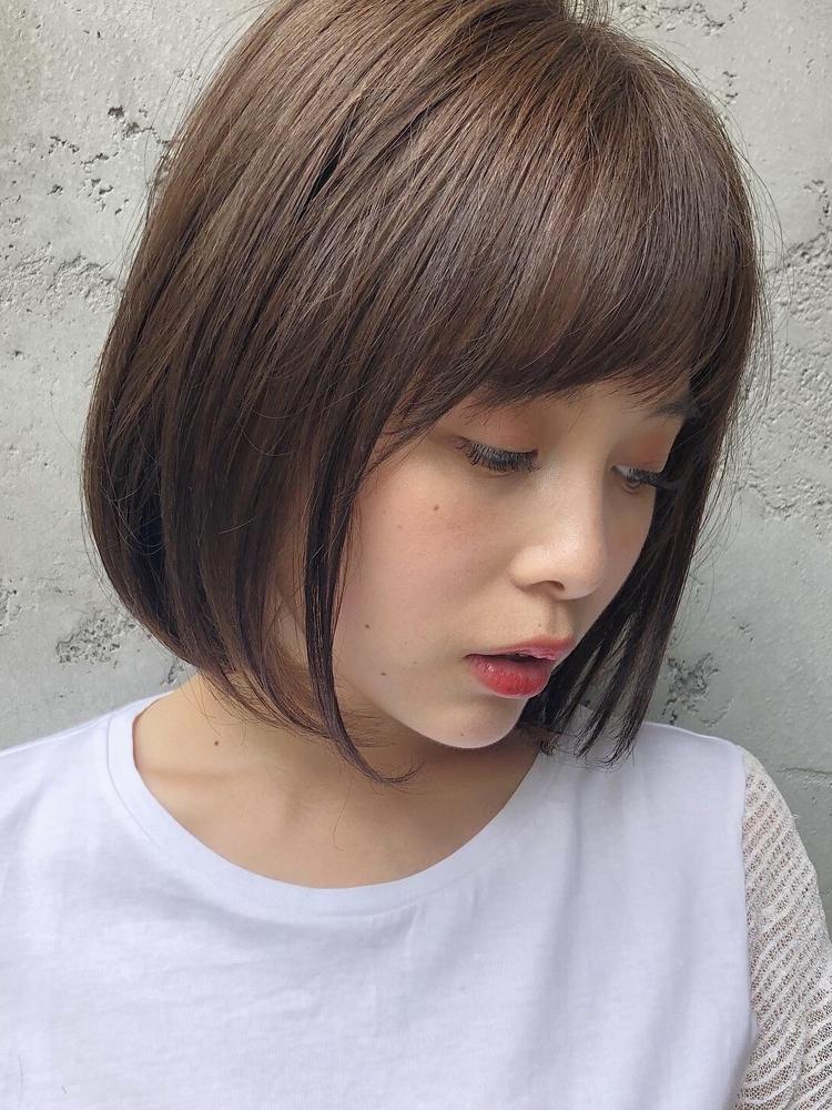 dydi表参道*小顔効果♪ふんわり美髪前下がりショートボブ♪