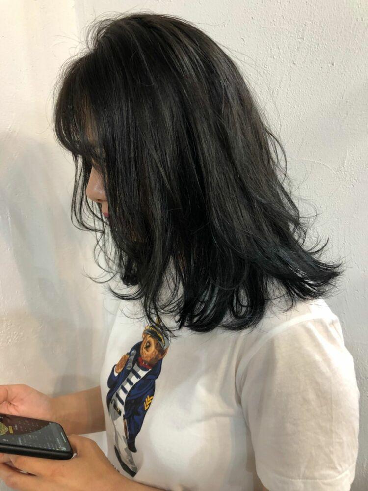 暗髪透明感ヘア