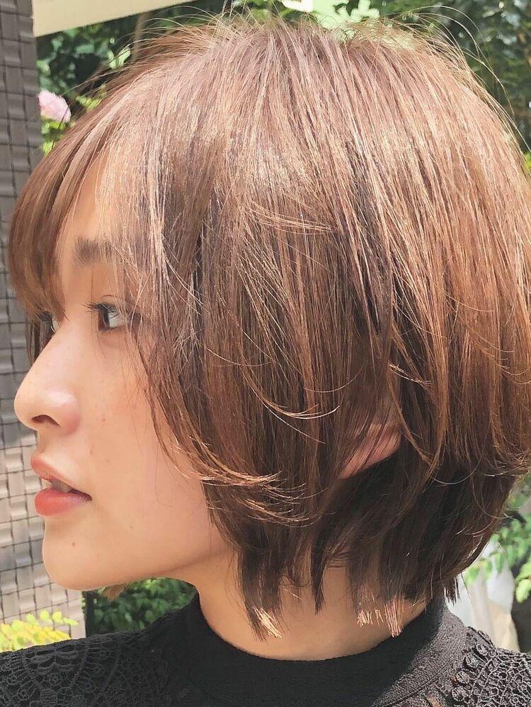 大人キレイなくびれショートヘア/30代・40代・50代