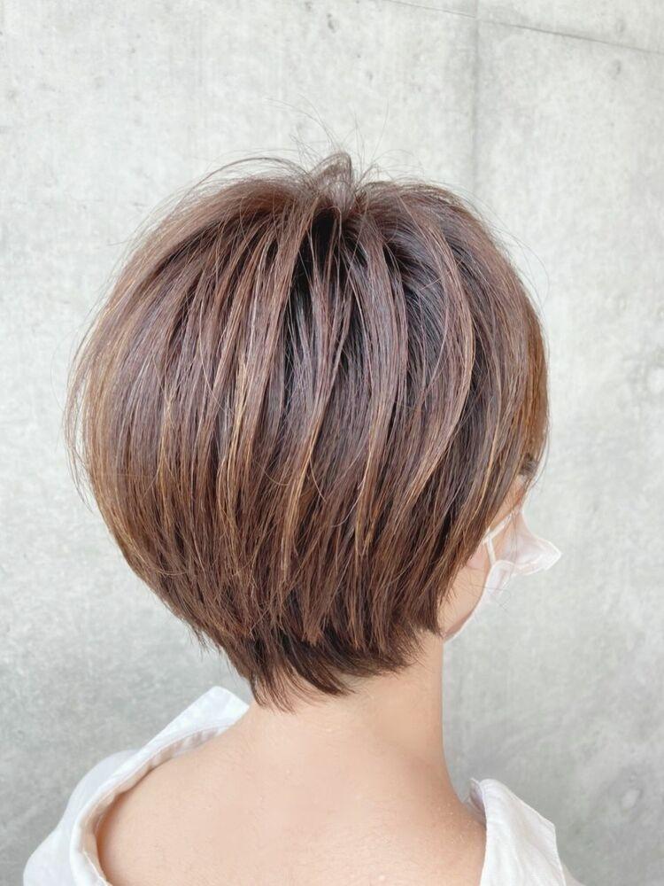 多毛の方でもコンパクトショートでお手入れ簡単☆大人かわいいショートボブ☆jeanaharbor清水