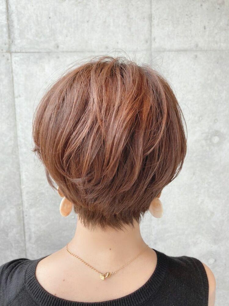 40代髪型、オシャレショートボブ☆jeanaharbor清水