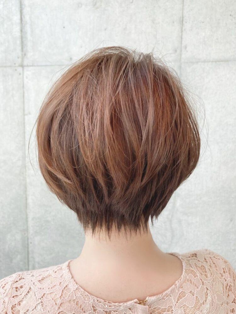 大人かわいいショートボブ☆30代、40代、50代髪型jeanaharbor清水