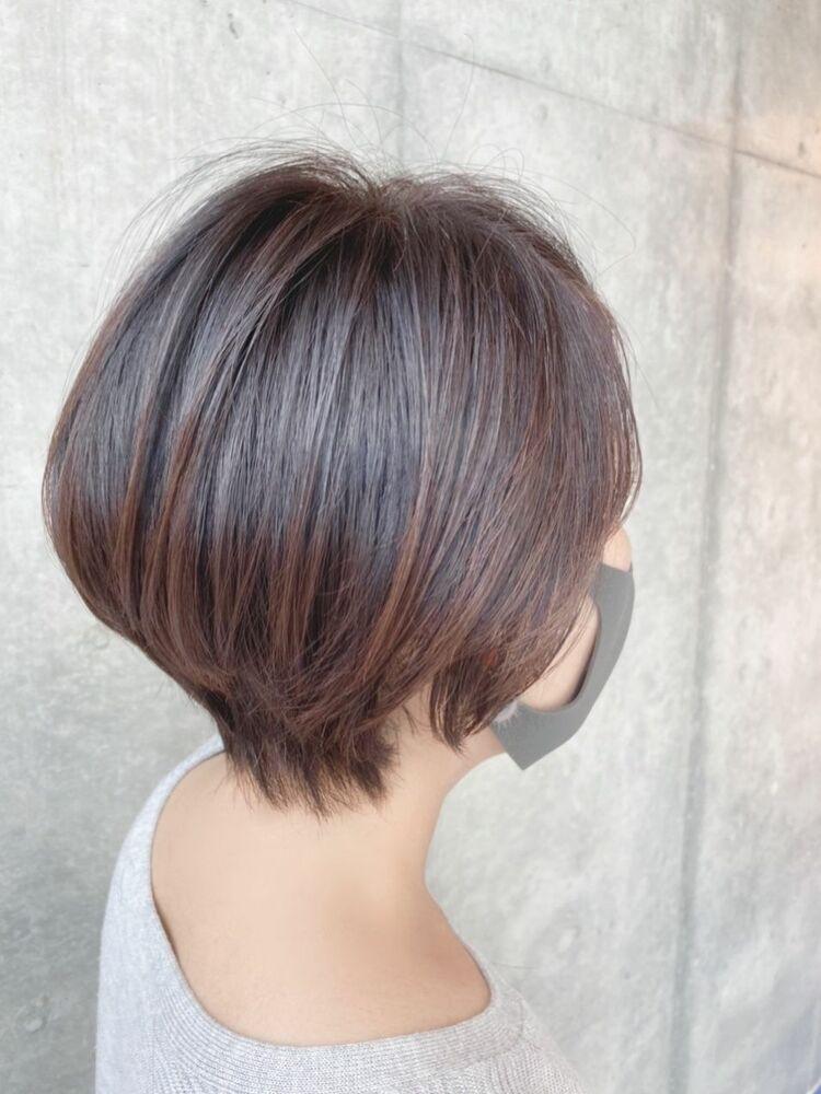 40代髪型 髪質改善☆艶ショートボブ