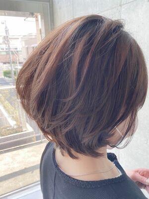 大人かわいいミディアムヘア☆ナチュラルカールでセットも簡単。jeanaharbor清水