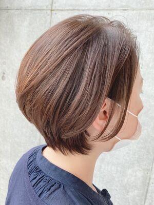 40代髪型☆耳かけショートボブ☆jeanaharbor清水