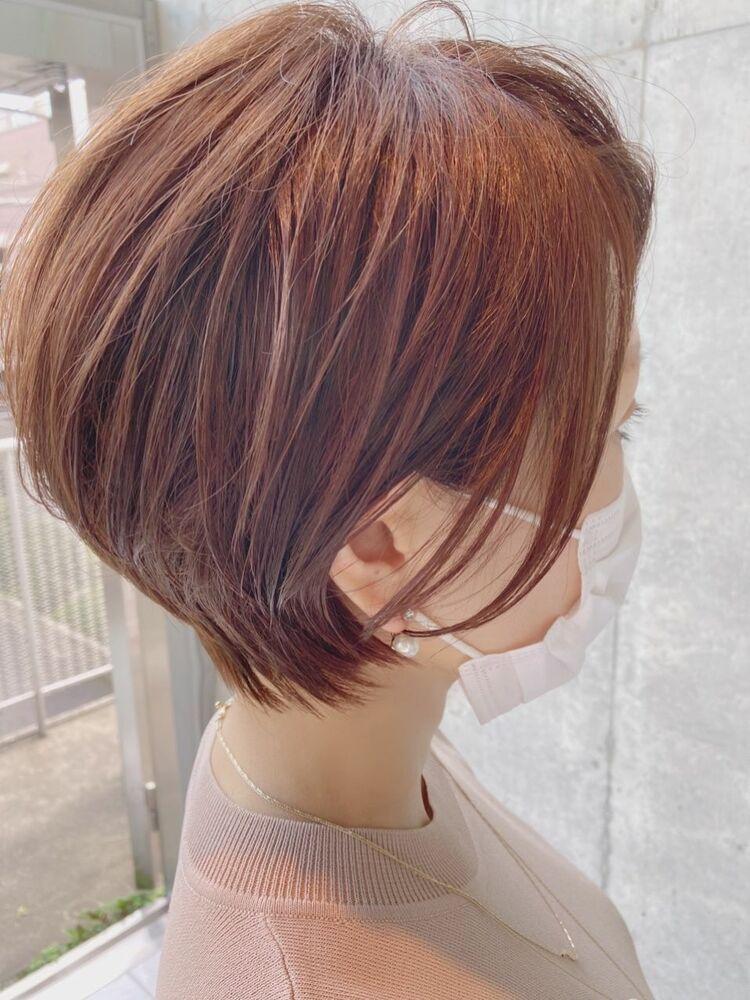 ハイトーンカラーの大人ショートボブ☆白髪染めオッケー!