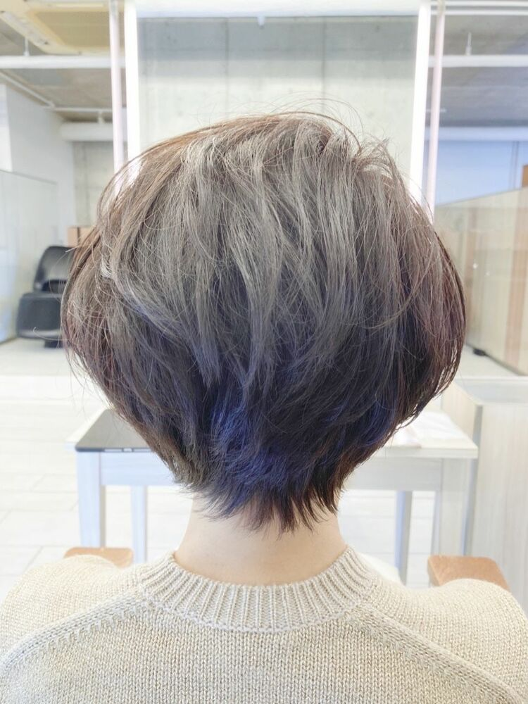 40代髪型ひし形ショートボブ