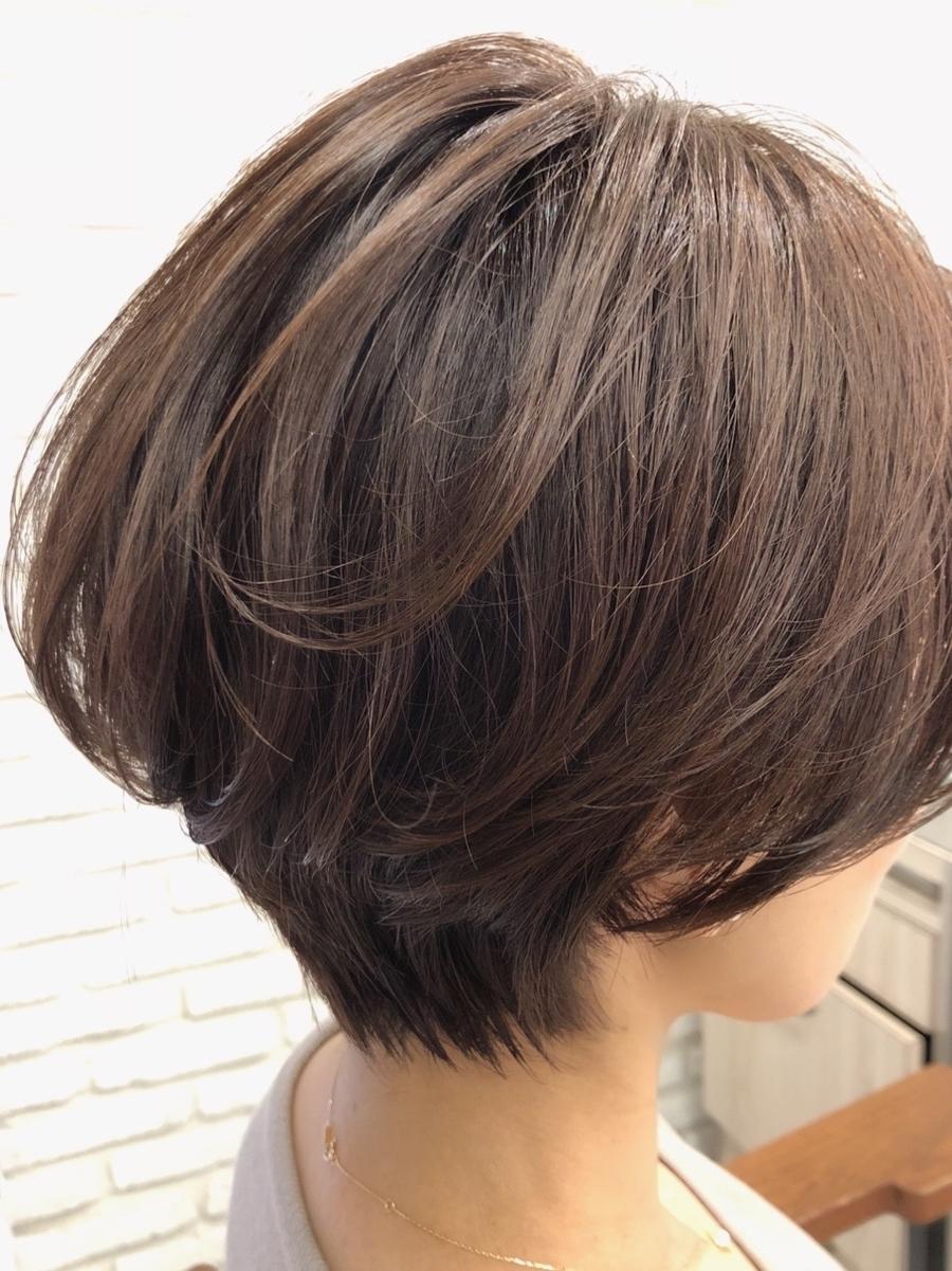 40代髪型☆くびれボブでふんわり無造作ヘア☆