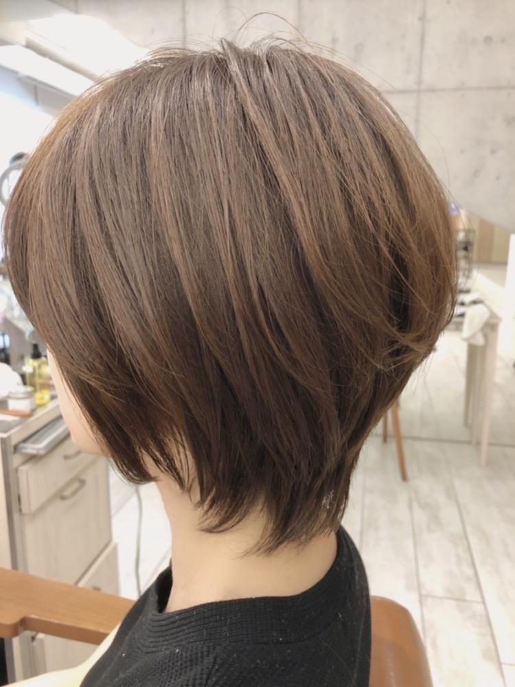 40代髪型☆大人かわいいレイヤーボブ☆