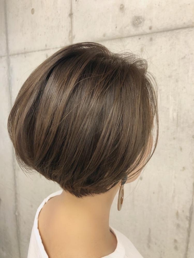 40代髪型☆大人かわいい後頭部ふんわりショートボブ☆