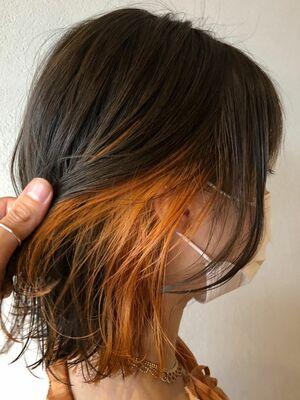 インナーカラーxオレンジ
