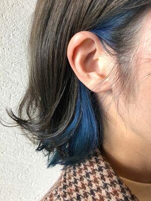 インナーカラー x ブルー
