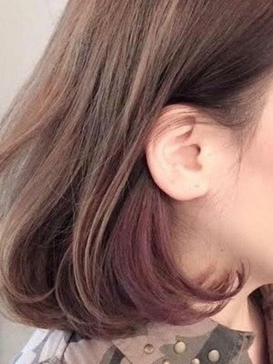 インナーカラー xピンクバイオレット