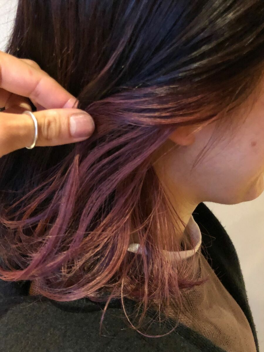 インナーカラー x ピンクバイオレット