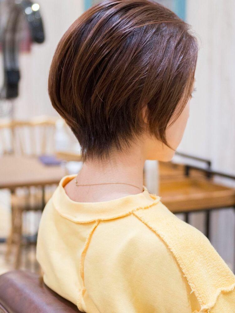 頭のカタチがきれいに見えるハンサムショート・浦和の美容室トライベッカ荒巻充のショートヘア、カット