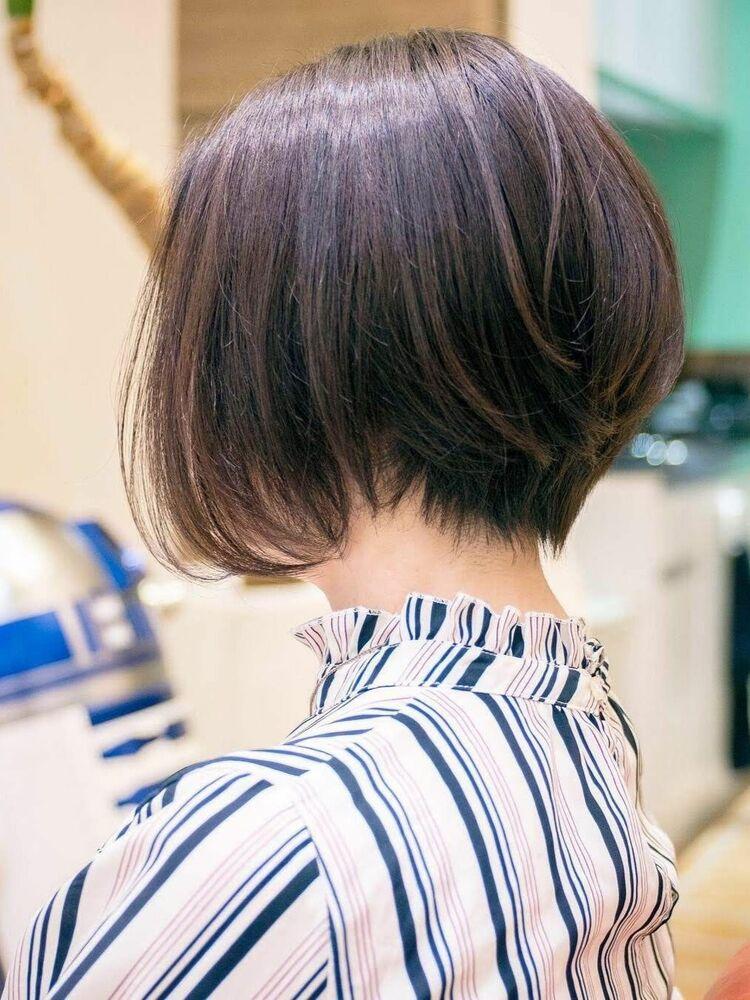 前下がりグラデーションボブ・浦和の美容室トライベッカ荒巻充のショートヘア、ショートボブ
