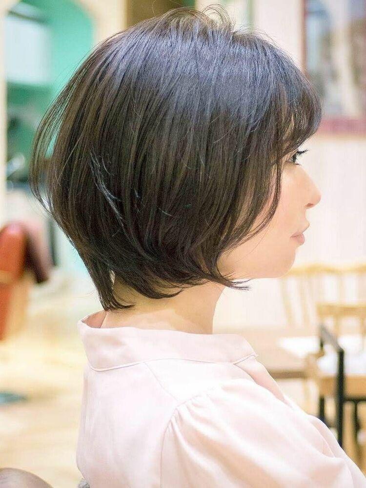 ひし形ショートボブ・浦和の美容室トライベッカ荒巻充のショートヘアー、ショートカット
