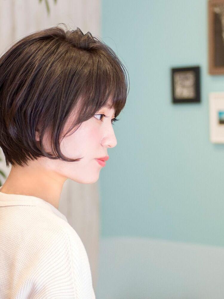 頭のかたちがキレイに見えるショートボブ・浦和の美容室トライベッカ荒巻充のショートヘアのショートカット