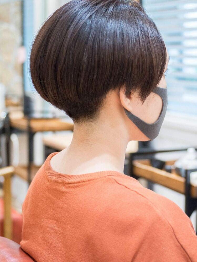 頭のカタチがきれいに見えるショートボブ・浦和の美容室トライベッカ荒巻充のショートカット、ショートヘア