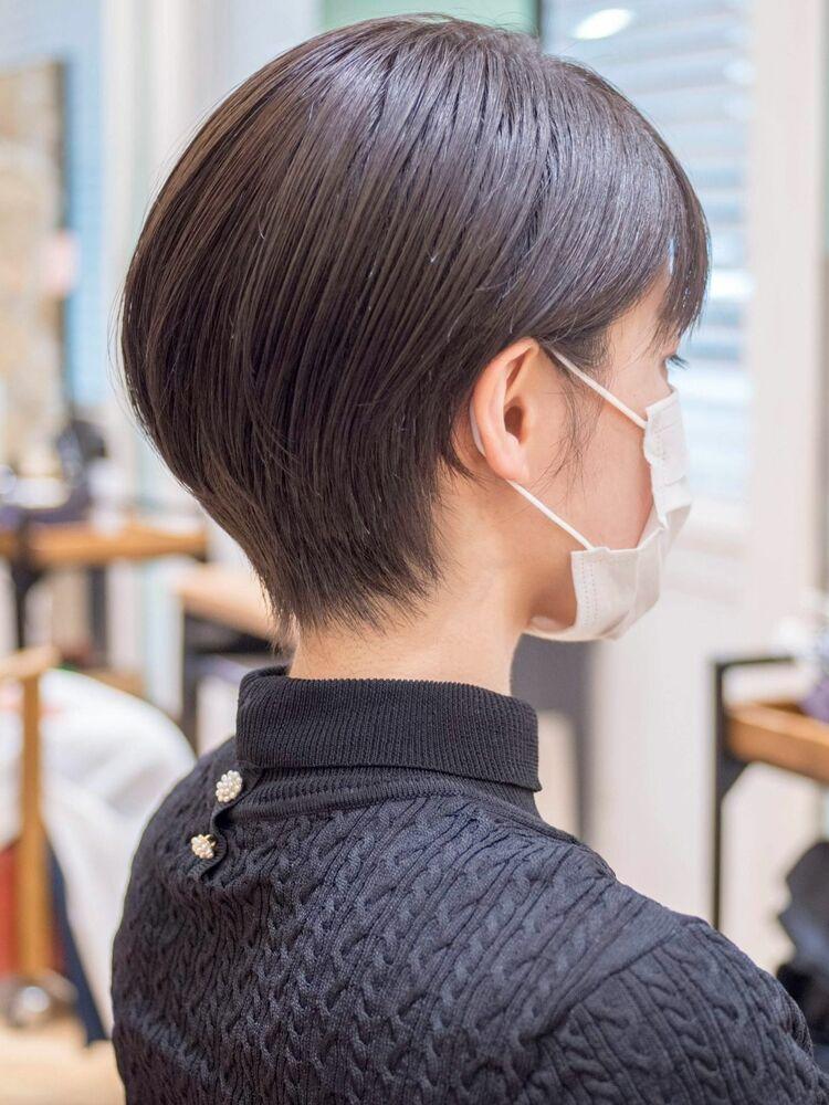 マスクに似合う髪型、ショートボブ・浦和の美容室トライベッカ荒巻充のショートヘア、ショートカット