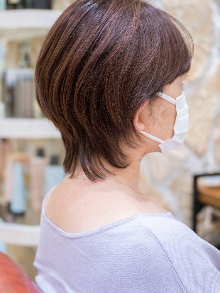 頭のカタチがきれいに見えるマッシュウルフ・浦和の美容室トライベッカ荒巻充のショートヘアカットが上手い