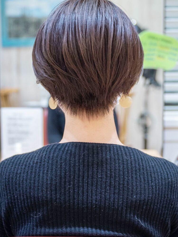頭の形がキレイに見えるショートボブ・浦和の美容室トライベッカ荒巻充の髪型ショートカットが上手い