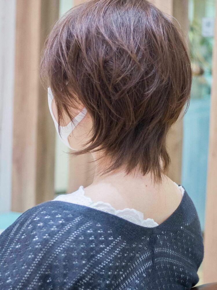 頭のかたちがキレイに見えるマッシュウルフ・浦和の美容室トライベッカ荒巻充のショートヘアショートカット